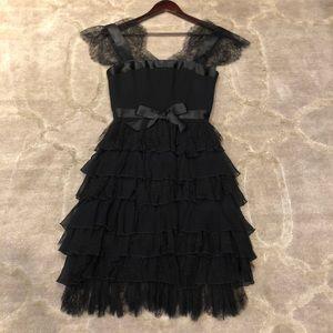 Oscar de la Renta Black Cocktail Dress